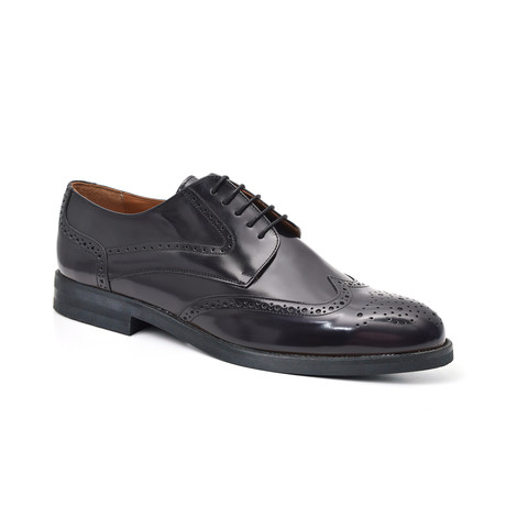 Aldred Derby Leather Shoe // Blue