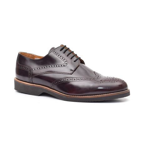 Doric Derby Leather Shoe // Bordeaux