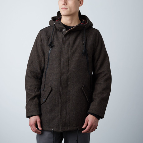 Amsterdam Longline Fish Tail Parka // Brown (S)