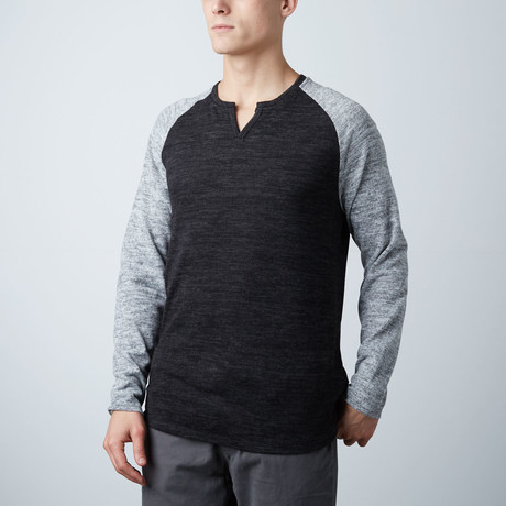 Rawlings Long Sleeve Contrast Raglan Shirt // Heather Gray
