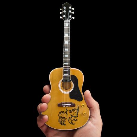 John Lennon Give Peace a Chance Mini Acoustic Guitar Replica