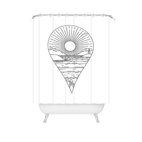 Heading Out // Shower Curtain