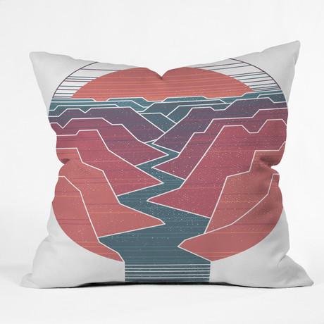 Canyon River // Throw Pillow