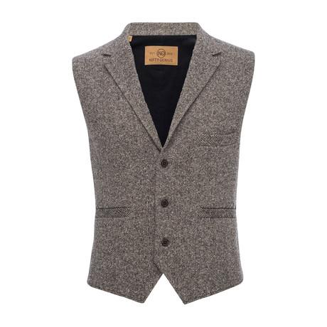 Cooper Wool Blend Vest // Brown (XS)