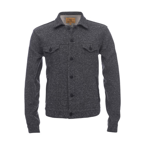 Trucker Jacket Shirt // Navy (XS)