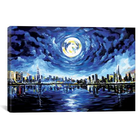 Moon Over New York // Piero Manrique