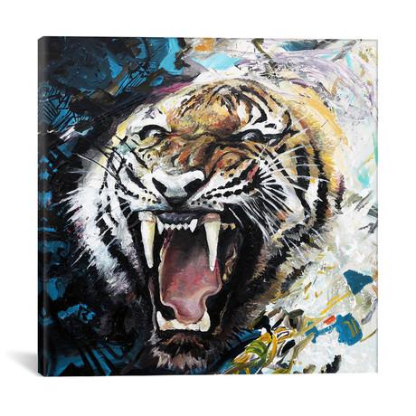 "Tiger Roar // Piero Manrique (18""W x 18""H x 0.75""D)"