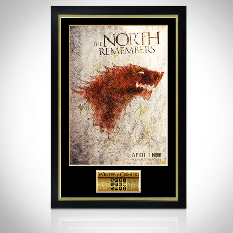 North Remembers // Cast Signed Poster // Custom Frame