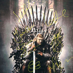 The Iron Throne // Cast Signed Poster // Custom Frame