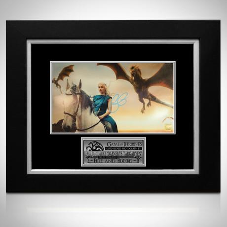 Daenerys 3 Dragons // Emilia Clarke Signed // Custom Frame
