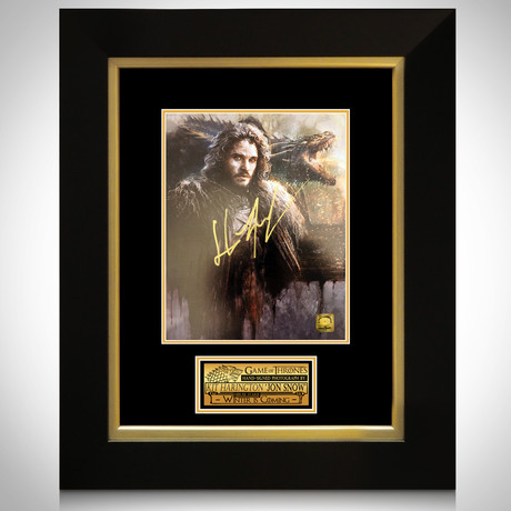 Jon Snow // Kit Harington Signed Art // Custom Frame