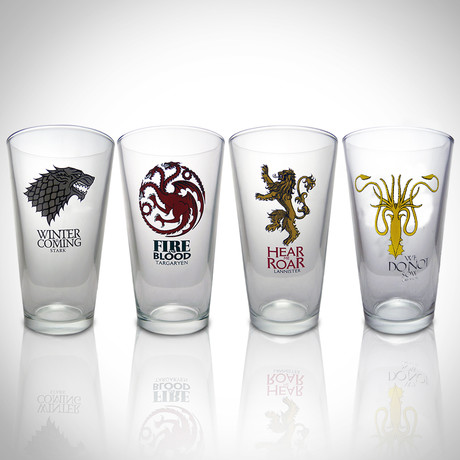 Pint Glasses // Set Of 4 // Collector's Set