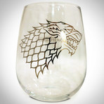 Targaryen & Stark // Stemless Wine Glasses