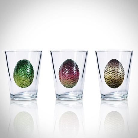 Dragon Eggs // Set Of 3 // Shot Glass Collector'S Set