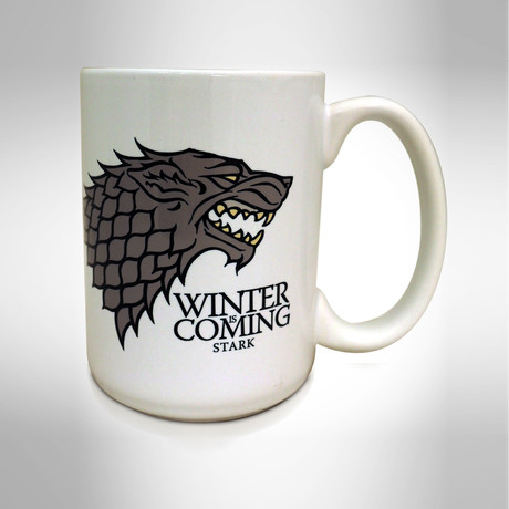 House Stark // Winter Is Coming // White Mug