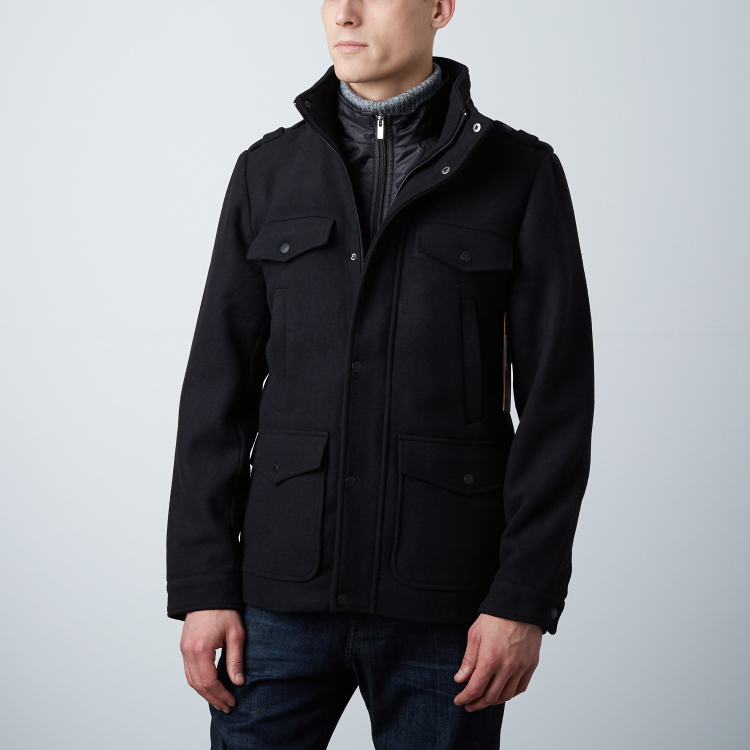 db5fed48 Huber Military Peacoat // Black (XL) - Outerwear Clearance - Touch ...