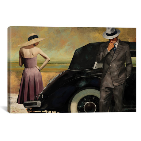 "Bonnie And Clyde // Eric Yang (26""W x 18""H x 0.75""D)"