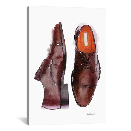 """Men's Brown Shoes (18""""W x 26""""H x 0.75""""D)"""