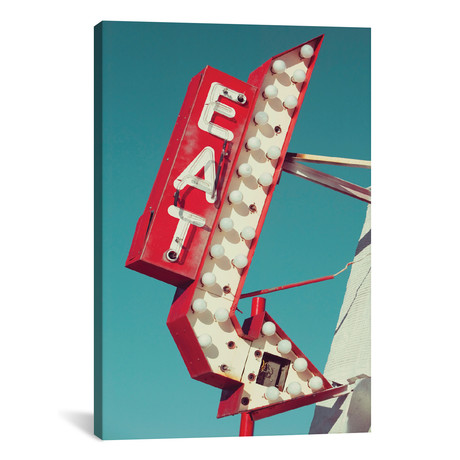 """Retro Eat Sign // Danita Delimont (12""""W x 18""""H x 0.75""""D)"""