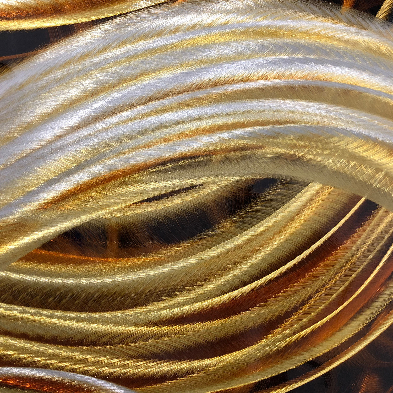 Gold River - Hand-Crafted Metallic Art - Touch of Modern