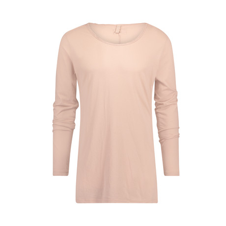 Long-Sleeve Tee// Extra Long // Old Pink (M)