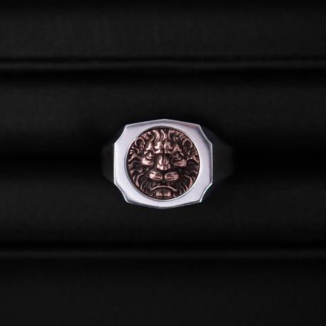 Trophy Ring // Lion // Rose Gold (Size 54)