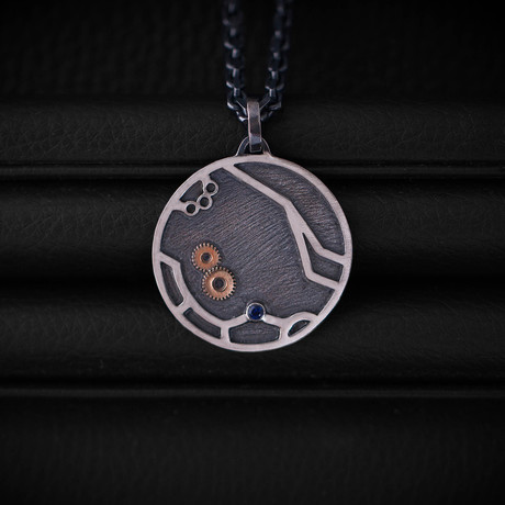 Time Necklace // Blue Sapphire