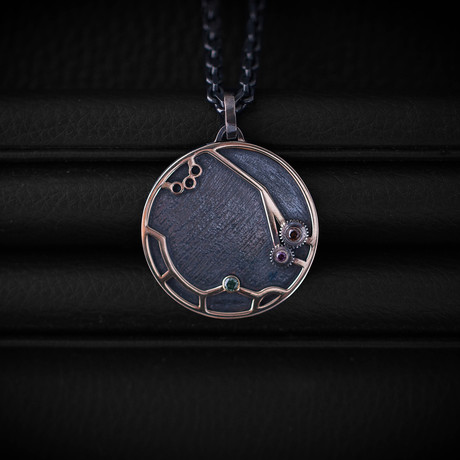 Time Necklace // Colored Diamonds