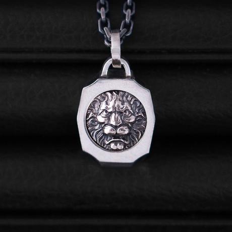 Trophy Necklace // Lion // Silver