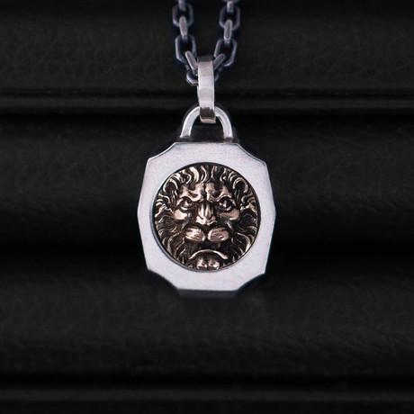 Trophy Necklace // Lion // Gold