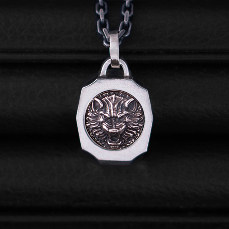 Trophy Necklace // Wolf // Silver