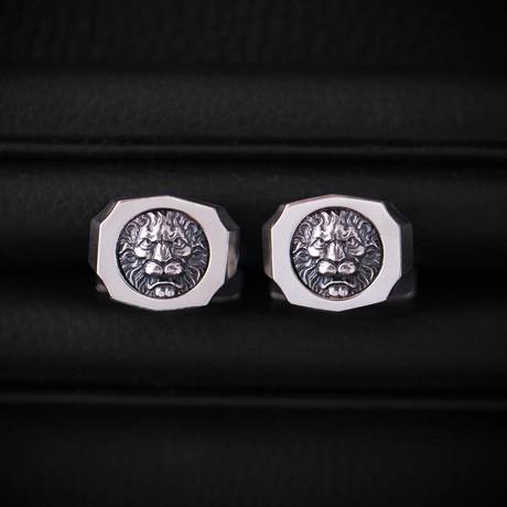Trophy Cufflinks // Lion // Silver