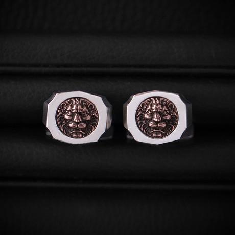 Trophy Cufflinks // Lion // Rose Gold