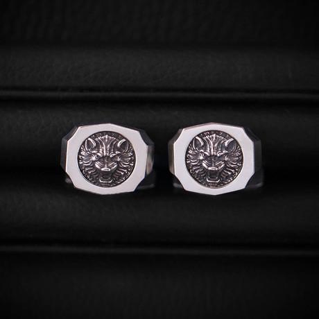 Trophy Cufflinks // Wolf // Silver