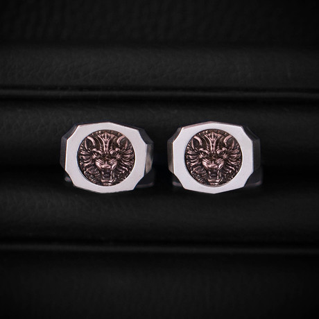 Trophy Cufflinks // Wolf // Rose Gold