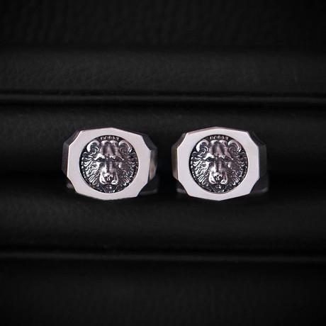 Trophy Cufflinks // Bear // Silver