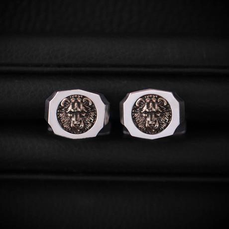 Trophy Cufflinks // Bear // Gold