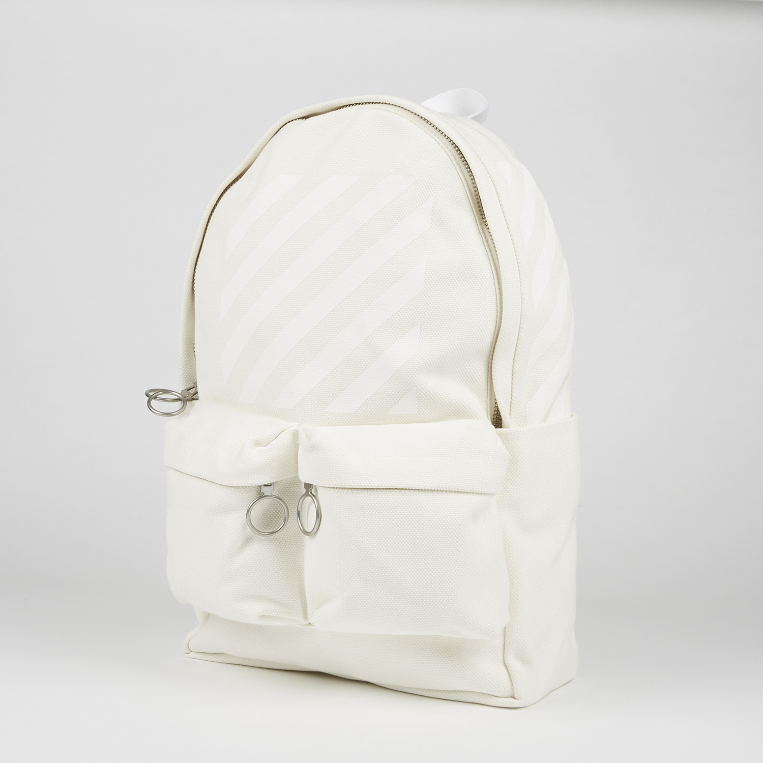 diagonals backpack off white white off white. Black Bedroom Furniture Sets. Home Design Ideas
