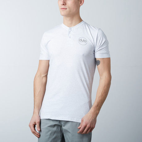 The Henley Tee // Heather White (S)