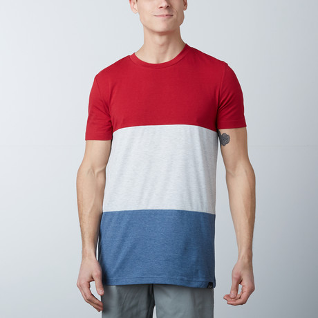 The Neo Tee // Red + White + Blue (S)
