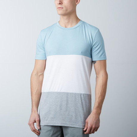 The Neo Tee // Blue + White + Gray (S)