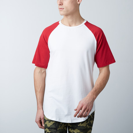 Short Sleeve Baseball Tee // Red + White (S)