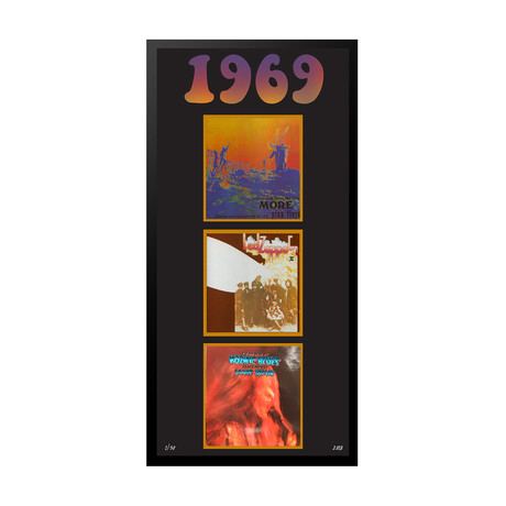 1969 Commemorative Music Framed Piece // II