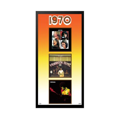 1970 Commemorative Music Framed Piece // I