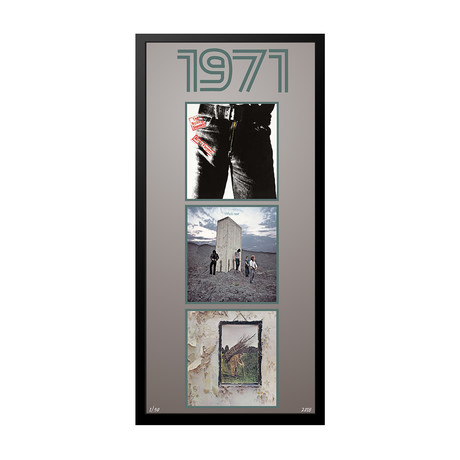 1971 Commemorative Music Framed Piece // I