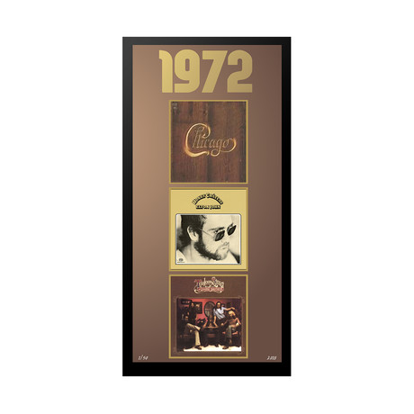 1972 Commemorative Music Framed Piece // I