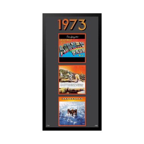 1973 Commemorative Music Framed Piece // I