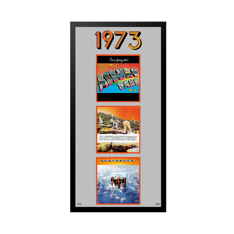 1973 Commemorative Music Framed Piece // II