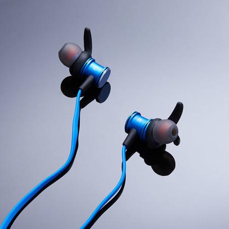 SLMBT-518 // Magnetic Bluetooth Earphones (Blue)