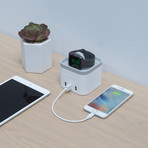PowerTime // Apple Watch Charging Dock + 3 USB Ports